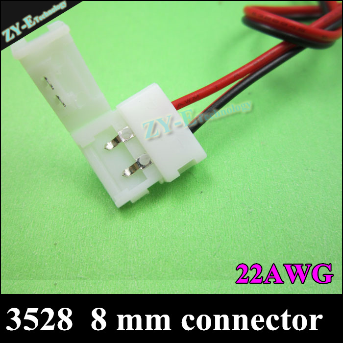 10pcs 3528 Strip 8 mm Connector LED PCB Connector Adapter 3528 Single Color LED Strip 2 Pins Double free welding free shipping<br><br>Aliexpress