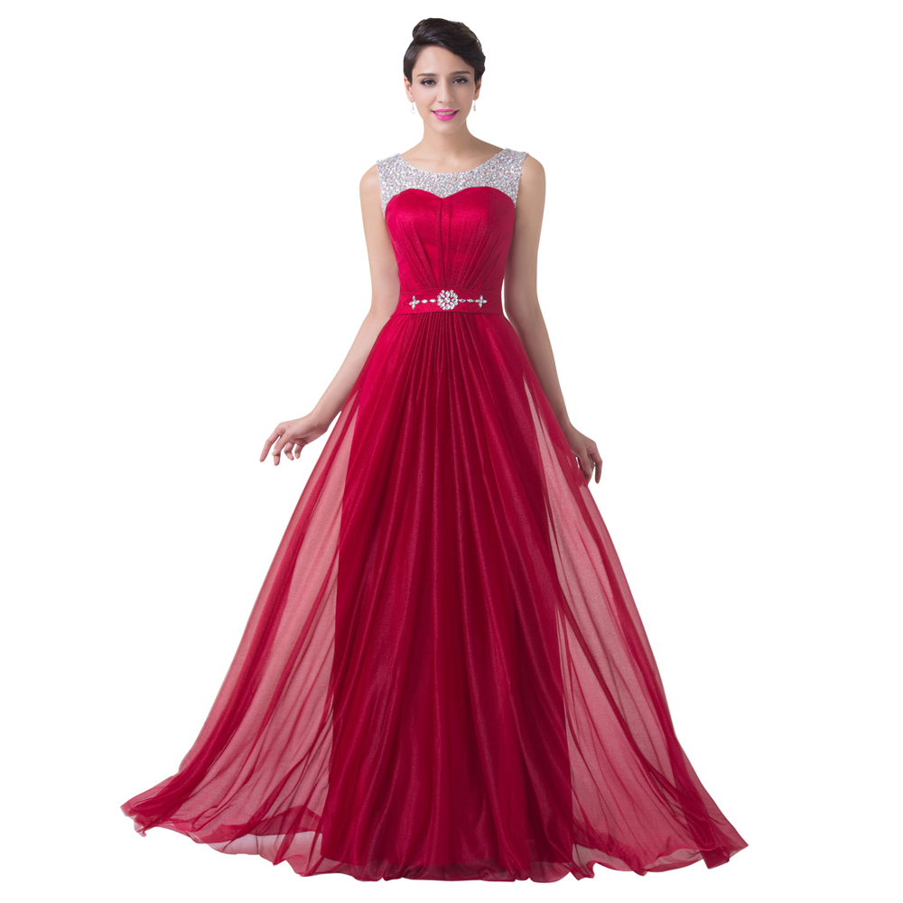Burgundy red bridesmaid dress beaded chiffon a line formal for Dress for formal wedding