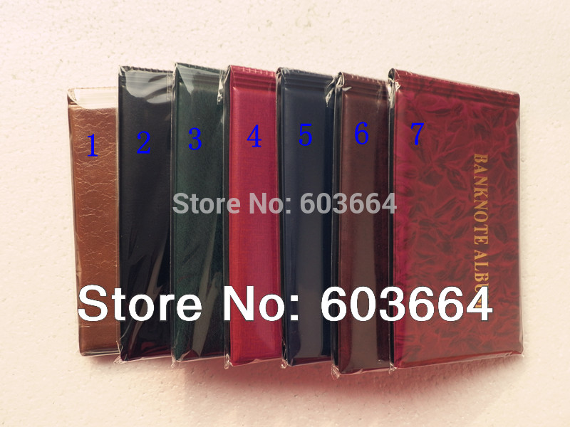 Sheet 40 openings Banknote album, Paper money currency stock collection protection album(China (Mainland))
