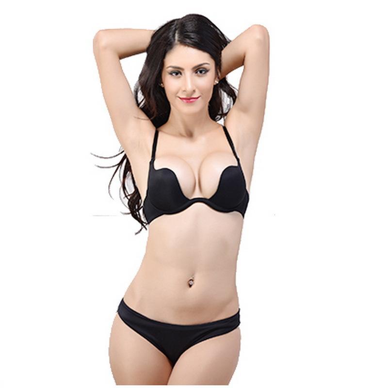 New Fashion Deep Plunge U Women Bras Sexy Seamless Adjustable Convertible Straps Sutian Push Up Bra brassiere Sport bandeau(China (Mainland))