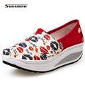 2016 Swing Fashion Casual Shoes Woman High Quality Canvas Shoes Women Summer Walking Shoes Women s