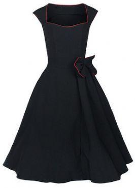 retro dress S 5XL plus size clothes large dress long cotton fabric cocktail club wear sexy novelty elegant black royal blue red(China (Mainland))