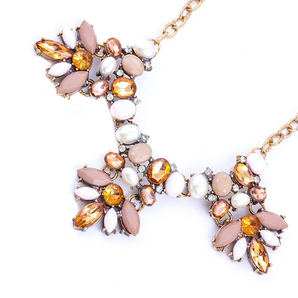 Vintage Kolye Charm Boho Flower Acrylic Pendants Necklaces High Quality Chain Maxi Necklace Statement jewelry For