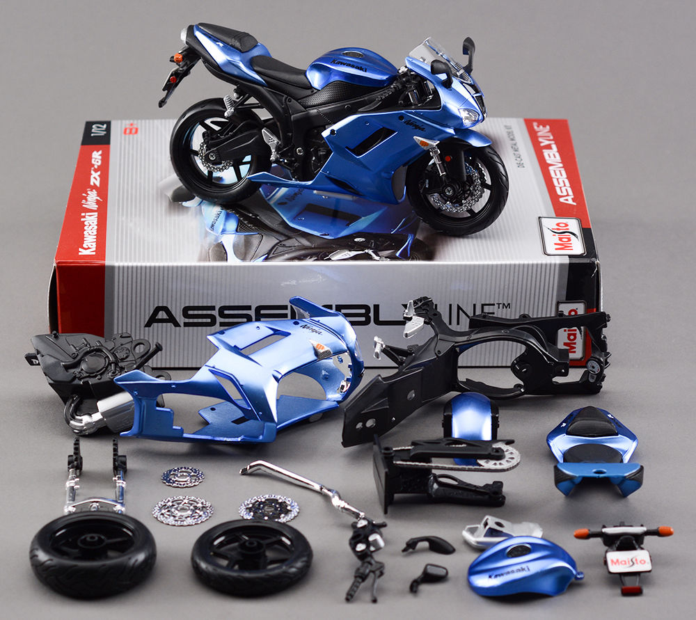 1:12 Scale DIY Assembly Model Motorcycle Kawasaki ZX-6R Metal Kit Diecast Motorbike Model Maisto Brinquedos Collection Toys B(China (Mainland))