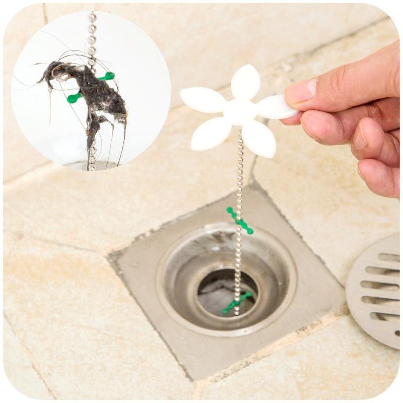 Shower-Drain-Hair-Catcher-Stopper-Clog-Sink-Strainer-Flower-Kitchen-Bathroom-Remover-Cleaning-Protector-Filter-Strap Strainer For Bathroom Sink