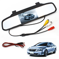Car Rearview Mirror Monitor With Backup Reverse Camera TFT LCD Color Parking Assistance Rear View Camera