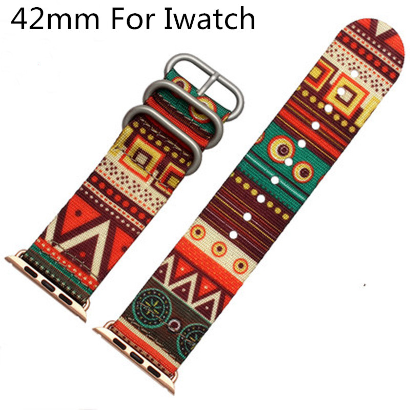 Canvas Sport Apple Watch Belt, Nylon 42MM Apple Watch Strap Watchband ,For Iwatch Apple Watch With Adapter(China (Mainland))
