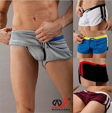 Mens sports Shorts Comfy Boxer exercise GYM underwear casual Home Pants Gay Shorts Men Boxers Cueca Cuecas MarcasS M L XL