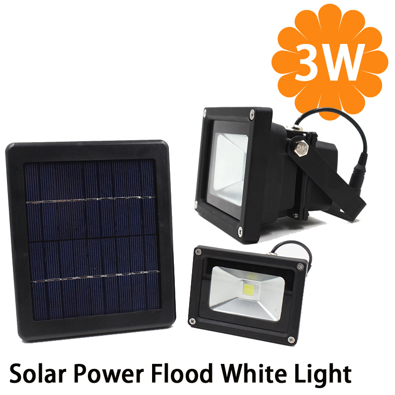 Big Promotion 3W Solar Power LED Flood Night Light Waterproof Outdoor Garden Decoration Landscape Spotlight Wall Lamp Bulb(China (Mainland))