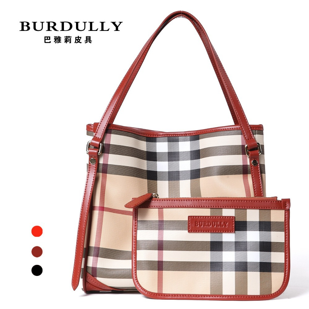 Limited Women Bolas Genuine Leather Tote Bag Big Set Luxury Brand Classical Plaid Shoulder Stripe YL009 - Discount store