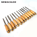 NEWACALOX 12pc Woodcut Knife Scorper Wood Carving Tools Cutter Graver Engraving Nicking Scalpel DIY Tool Scribing