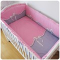 Promotion 6PCS Baby cotton bedding set 100 child piece set baby bed around bumpers sheet pillow