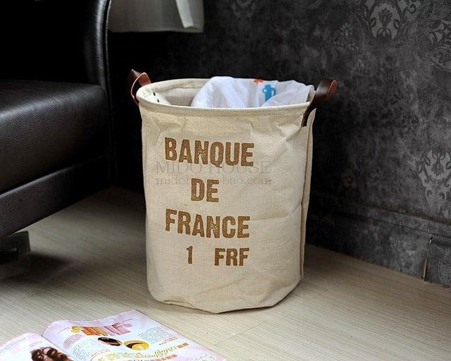 Free Shipping Cotton Fiber Storage Bags Sundries  Storage Bags FRANCE JP3617
