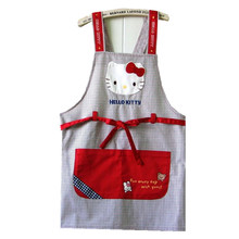 Cartoon Promotion free Shipping Hello Kitty Aprons Kitchen Accessories Fashion Overalls Home Apron Denim Version of Japan