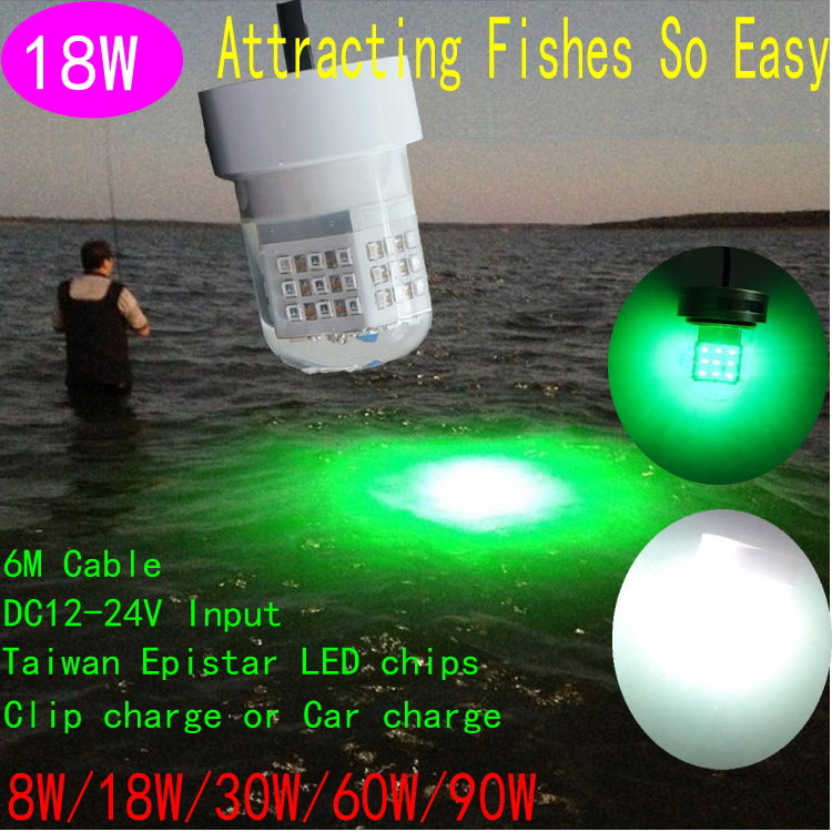 18W LED fishing lights with green color submersible green color light LED underwater fishing light