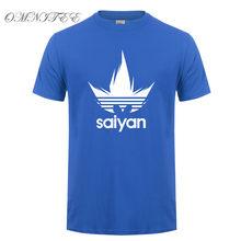 Модная футболка с изображением аниме Dragon Ball Z, Мужская хлопковая футболка с короткими рукавами, Saiyan, топы, Son Goku, Мужская футболка с героями му...(China)