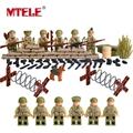 MTELE Brand World War II Set US Commandos Marine Corps RPG Battlefield figures Building Blocks Toys