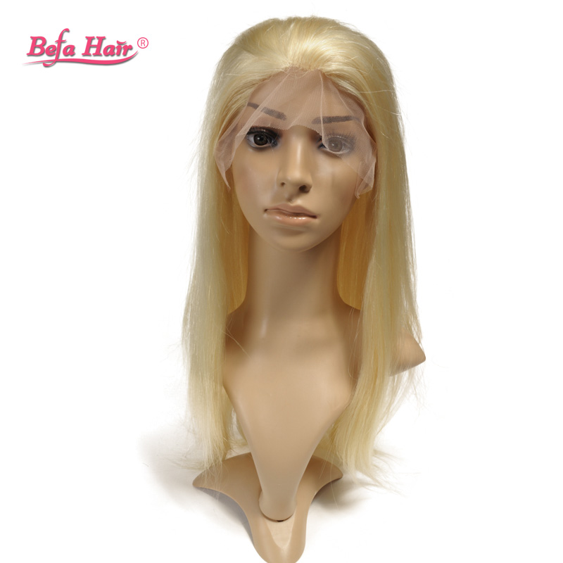Здесь можно купить  New styling 100% Remy Human Hair 613 Blonde Silky Straight White Women Wigs ,Glueless Lace Front Human Hair Wigs Free Shipping   Волосы и аксессуары