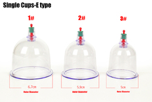 1-6 original Chinese Health care Medical Vacuum Cupping Therapy Cups Massage/hijama cups single cups sell in bulk 7cm/6cm/5cm