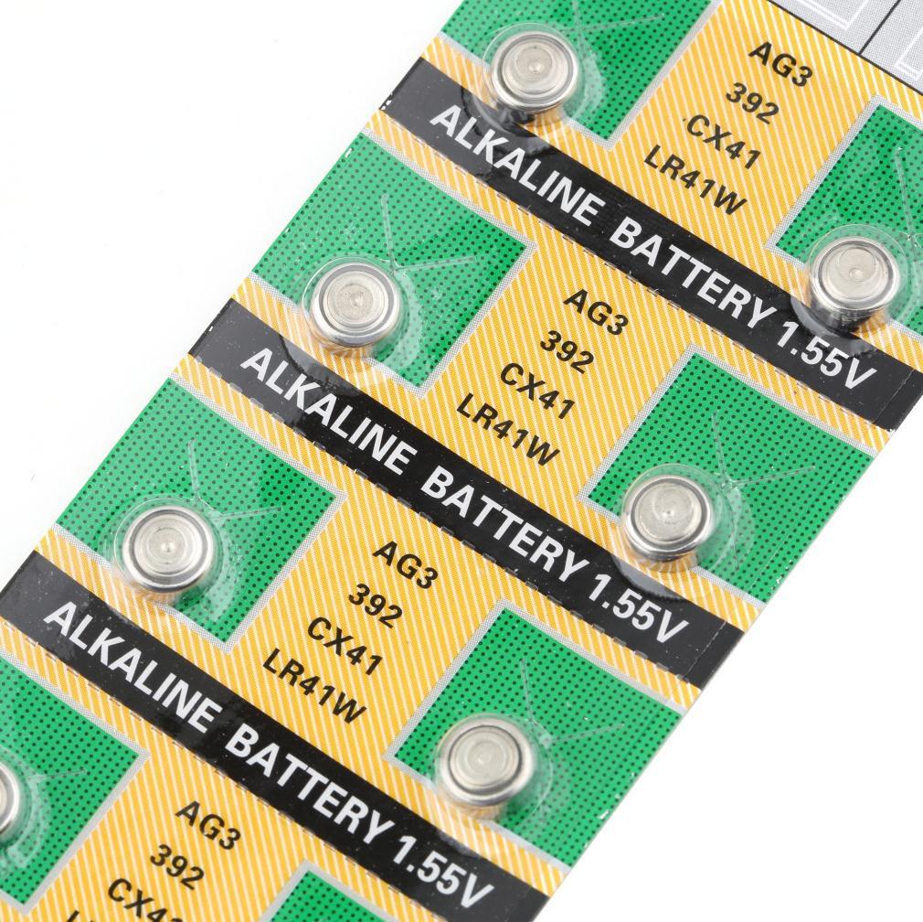 New Arrival 10pcs pack SR41SW CX41 SR736 SR41 AG3 LR41 LR736 392 392A Cell Button Watch