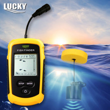 Lucky FF1108-1 Portable Sonar Alarm Fish Finder Echo Sounder 0.7-100M Transducer Sensor Depth Finder with Russian manual #B3(China (Mainland))