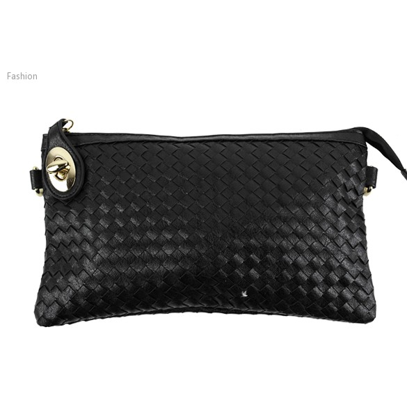 2015 New Arrived High Quality Metal Synthetic Leather Bag Women Woven Pattern Handbag Lady fashion Evening Bags 18(China (Mainland))