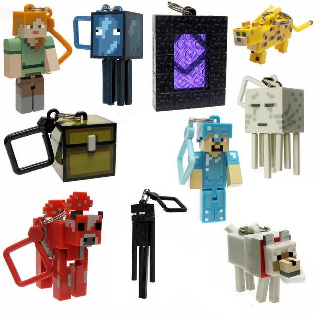 10 шт. матричный Minecraft микромира 2 вешалка брелок брелок клип цифры игры и игрушки бесплатная доставка