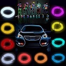 Buy 5M Multicolor Flexible EL Wire Rope Tube Strip Neon Cold Light Party Dance Car Decor 12V Inverter Wholesale Price for $4.38 in AliExpress store