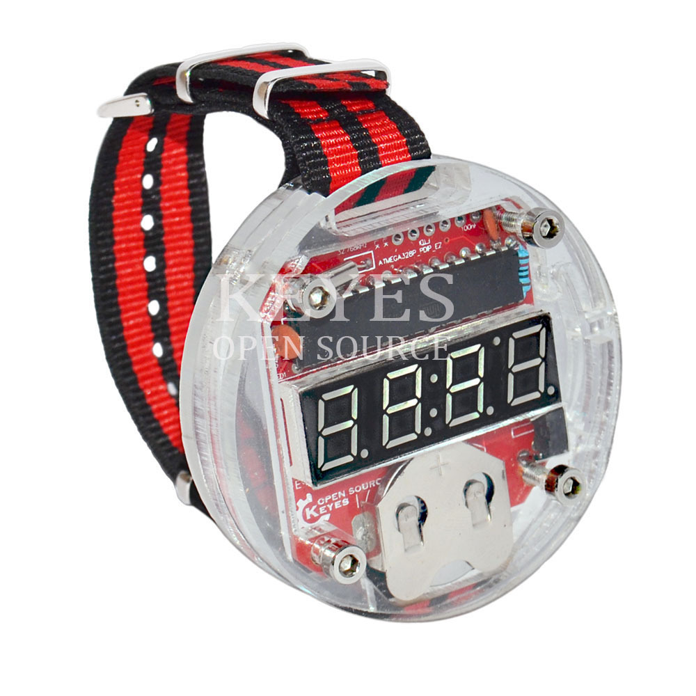 Free shipping! Latest Big time wearable devices, DIY electronic watch, programmable watch FOR ARDUINO Lin-3(China (Mainland))