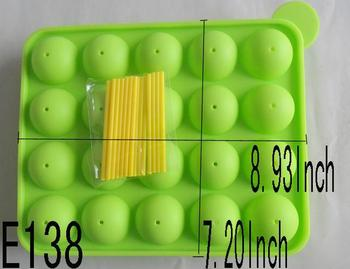 1PCS LOLLIPOP MOULD Silicone mold Mould For Soap,Candy,Chocolate,Ice,cup cake tool