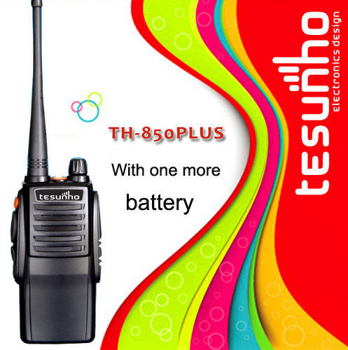 Tesunho TH-850 PLUS with one more high-storage battery long talk range two way radio high power walkie talkie(China (Mainland))