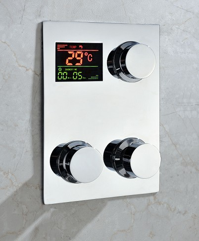 Digital Thermostatic Temperature sensitive Square Shower Faucet Control Valve water powered(China (Mainland))
