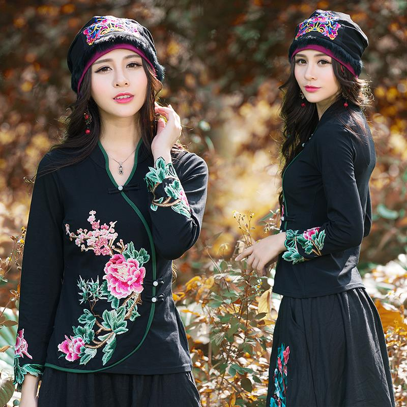 Ethnic skullies Mexican style spring and autumn brand vintage embroidery flowers bandanas original black hat free shipping