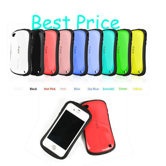 Anti Shock Korea Style Candy Color iFace hard Silicone Case for iphone 4 4s,mobile phone cute cover case , Sexy Hard Back Cover