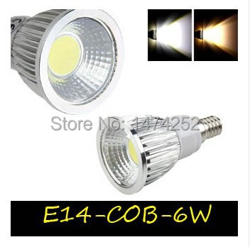 led lamps E14 COB LED spotlights 6w/9w/12w AC85-265V Aluminum Cool/Warm White led cob lamp with Good Quality ZM00243(China (Mainland))