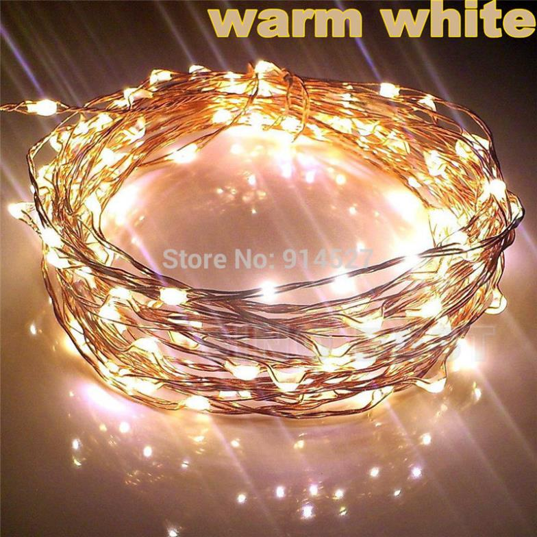 Copper String Lights Ideas : Outdoor 10M 33FT 100 LED Copper Wire String Lights Warm White Garland 220V 110V Holiday ...
