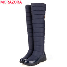 2016 new arrival keep warm snow boots fashion platform fur thigh knee high boots warm winter boots for women shoes boats(China (Mainland))