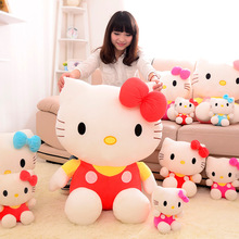 New hello KT cat plush toy doll birthday gift  sitting height 25cm hello kitty plush toys hello kitty toys doll for childre(China (Mainland))