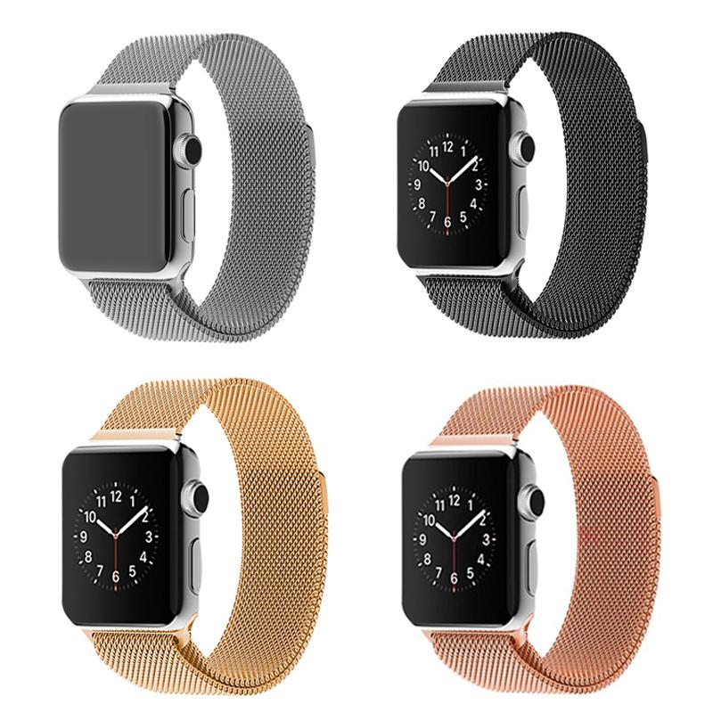 ZJM 1:1 Original Link Bracelet strap &amp; Milanese Loop watchbands Stainless Steel band for apple watch 38mm / 42mm Watchband<br><br>Aliexpress