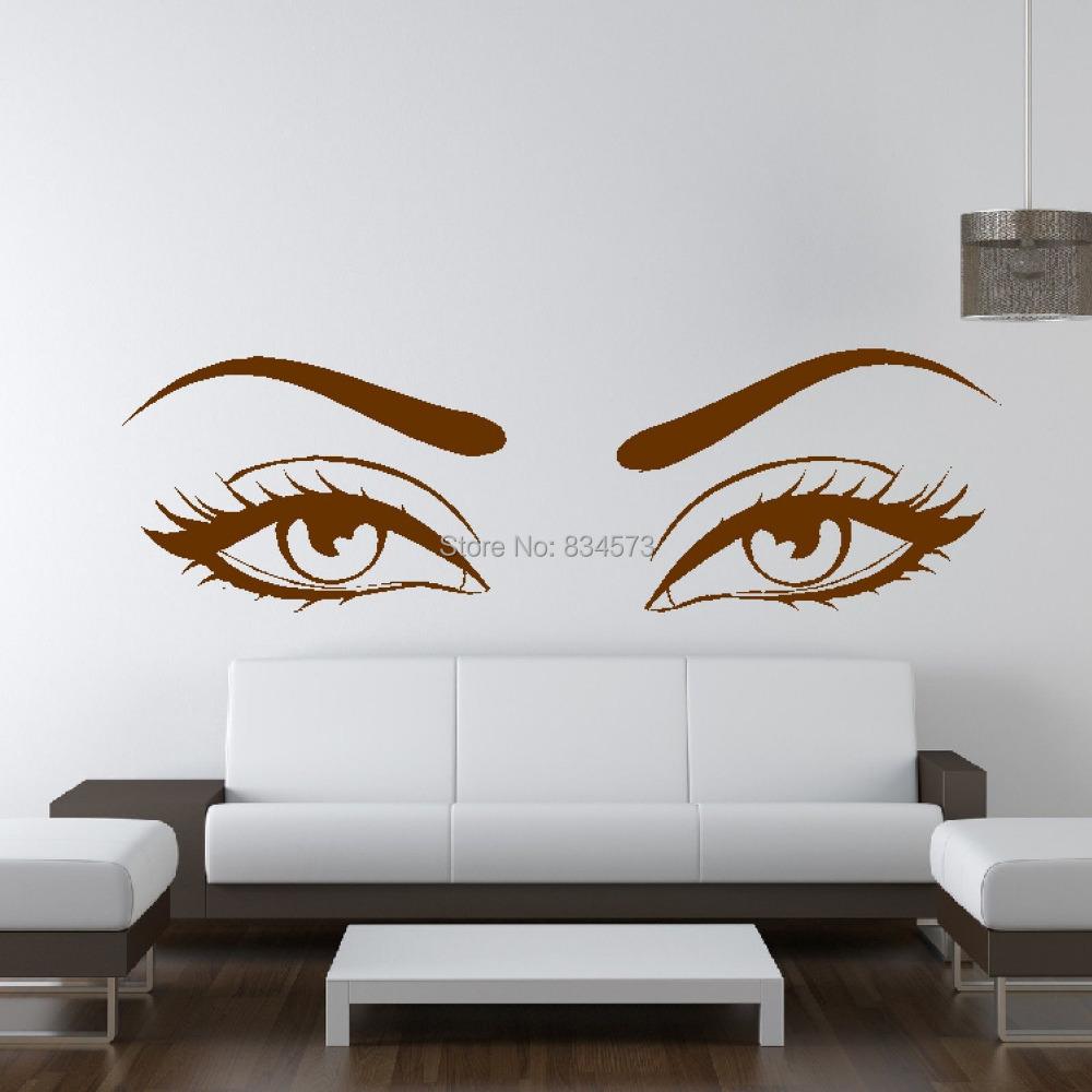 Eyes window promotion shop for promotional eyes window on - Stickers deco salon ...