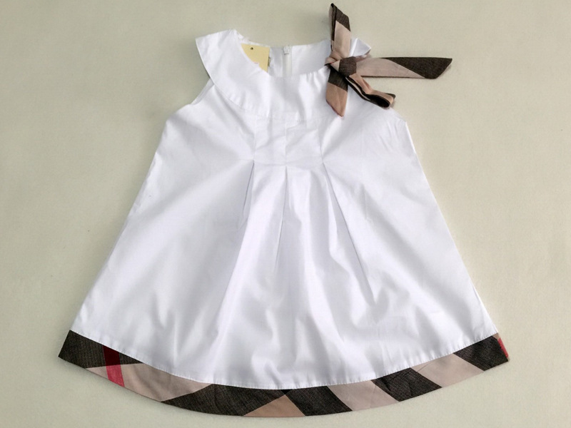 2015 baby girls dress cotton children clothes lovely design kids england style sleeveless draped clothing - Joystyle Town store
