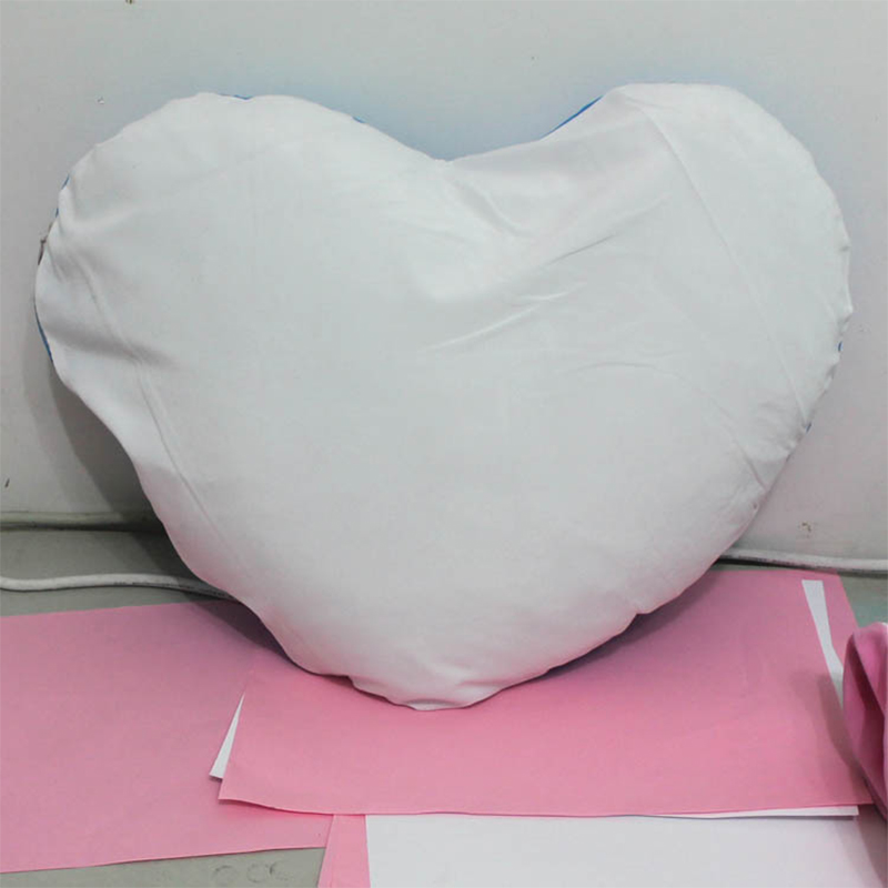 Heart shaped Solid Cotton Blends Decorative Sofa Cushion Cover Home Decor Throw Pillow Case 44x30cm 17