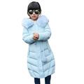 Kızlar Için 2016 Yeni Çocuk Kış Beyaz Ördek Aşağı Ceketler Uzun Fermuar Coat Moda Kapşonlu Sıcak Çocuk Kabanlar XY91