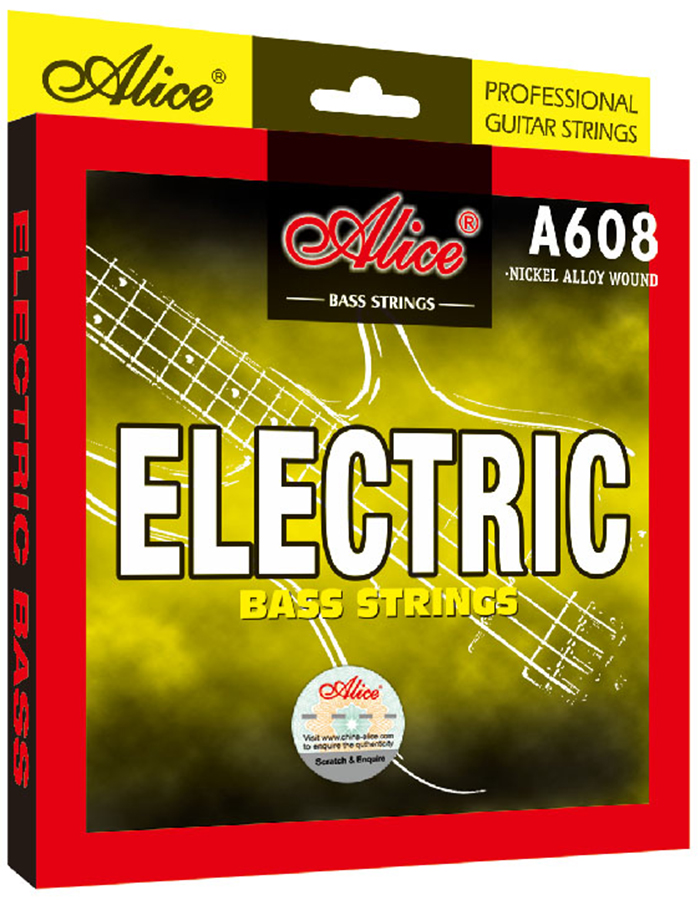 5 Strings Electric Bass Strings Hexagonal Core Nickel Alloy Wound 5pcs Alice A608(Hong Kong)