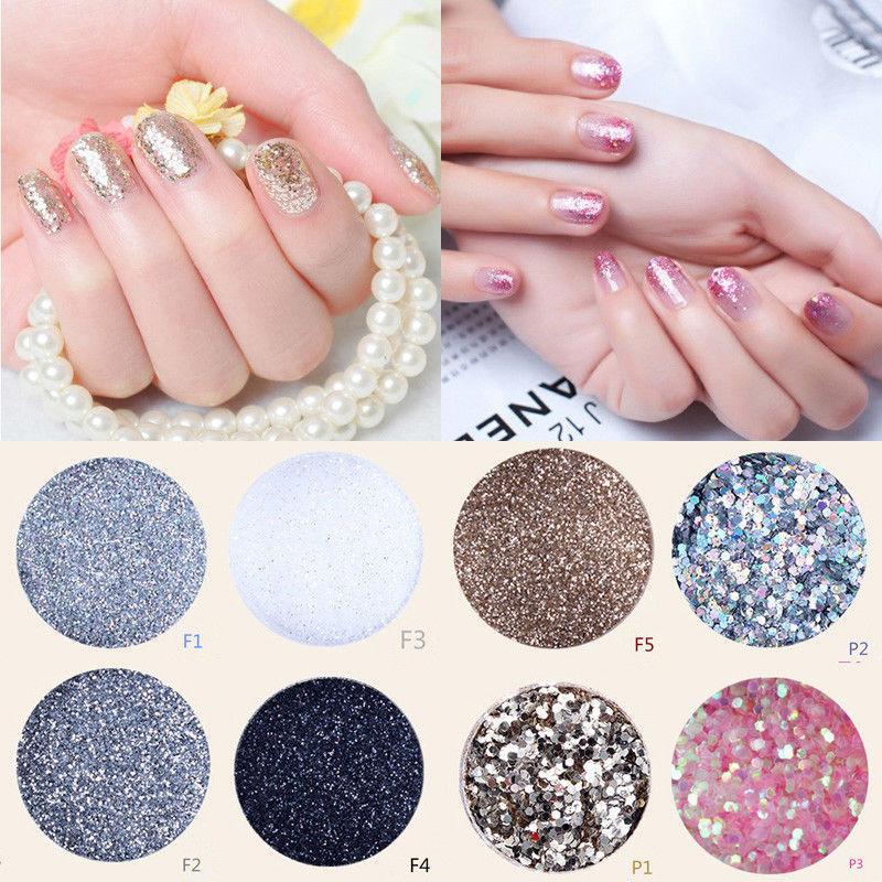 Fashional Hot Sale Acrylic UV Nail Art Glitter Powder Dust Tips Decoration(China (Mainland))