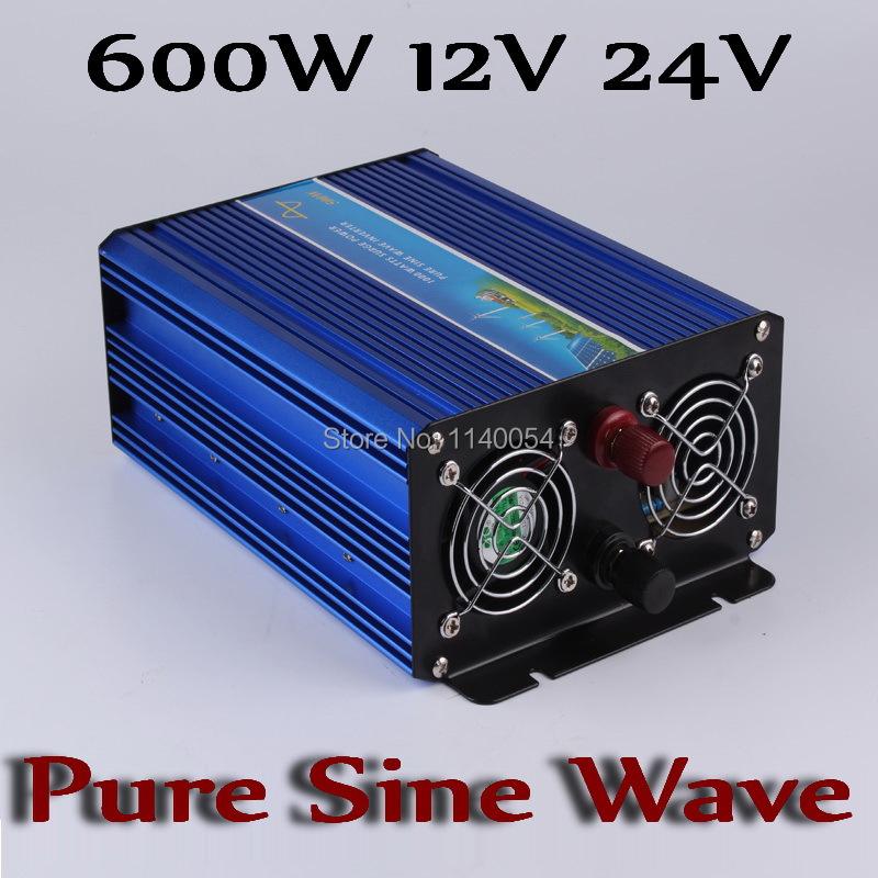 600W Off Grid Inverter 12V 24V, 100/110/120VAC or 220/230/240VAC Pure Sine Wave Output Solar Wind System Power Inverter(China (Mainland))