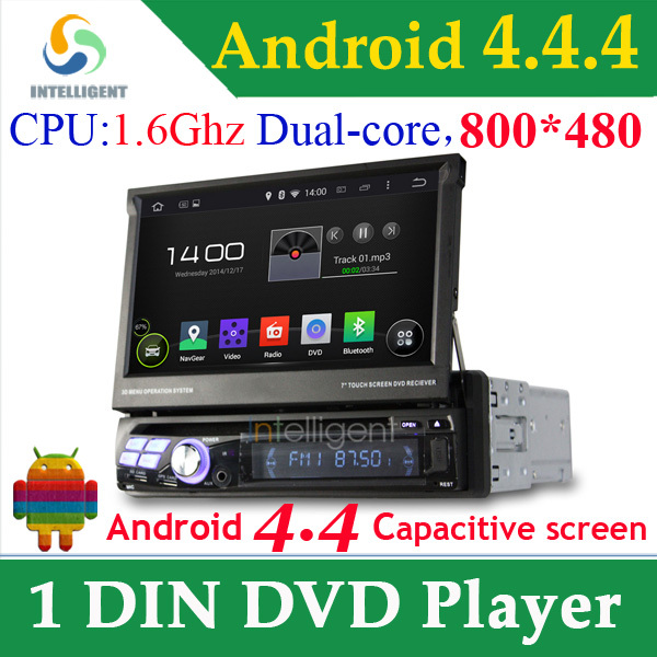 1 DIN Car DVD Player Universal GPS with Dual core RK3066 CPU Android 4.4.4 System WIFI 3G GPS Capacitive screen car stereo radio(China (Mainland))