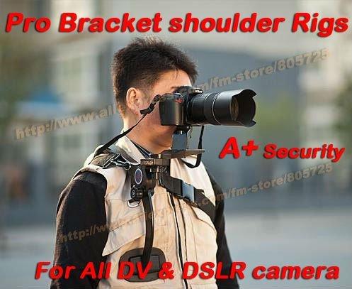 Free Shipping Professional New Video capture stabilizer Bracket shoulder Rigs for any DV DSLR HD digital camera camcorder 107208