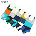3Pairs Colored 3D Striped Socks For Men Short Shallow Mouth Ankle Socks Fashion Male No Show
