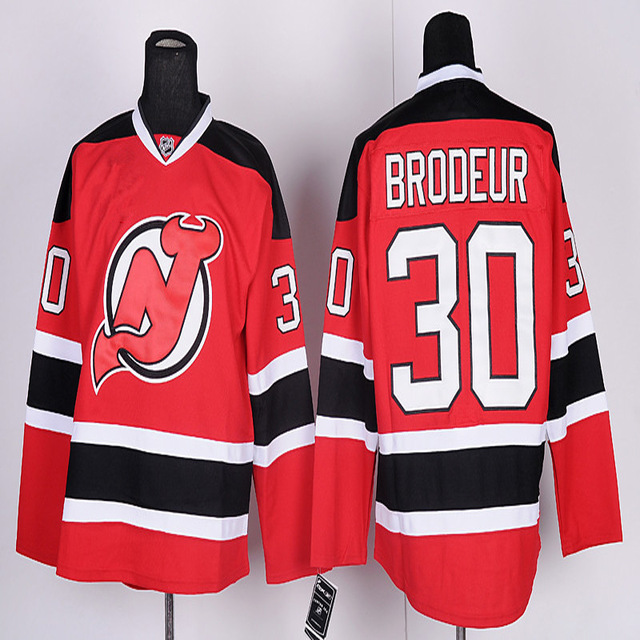 2016 Martin Brodeur men Jersey authentic New Jersey Devils #30 Martin Brodeur Premier Stitched High quality Ice Hockey Jerseys S(China (Mainland))